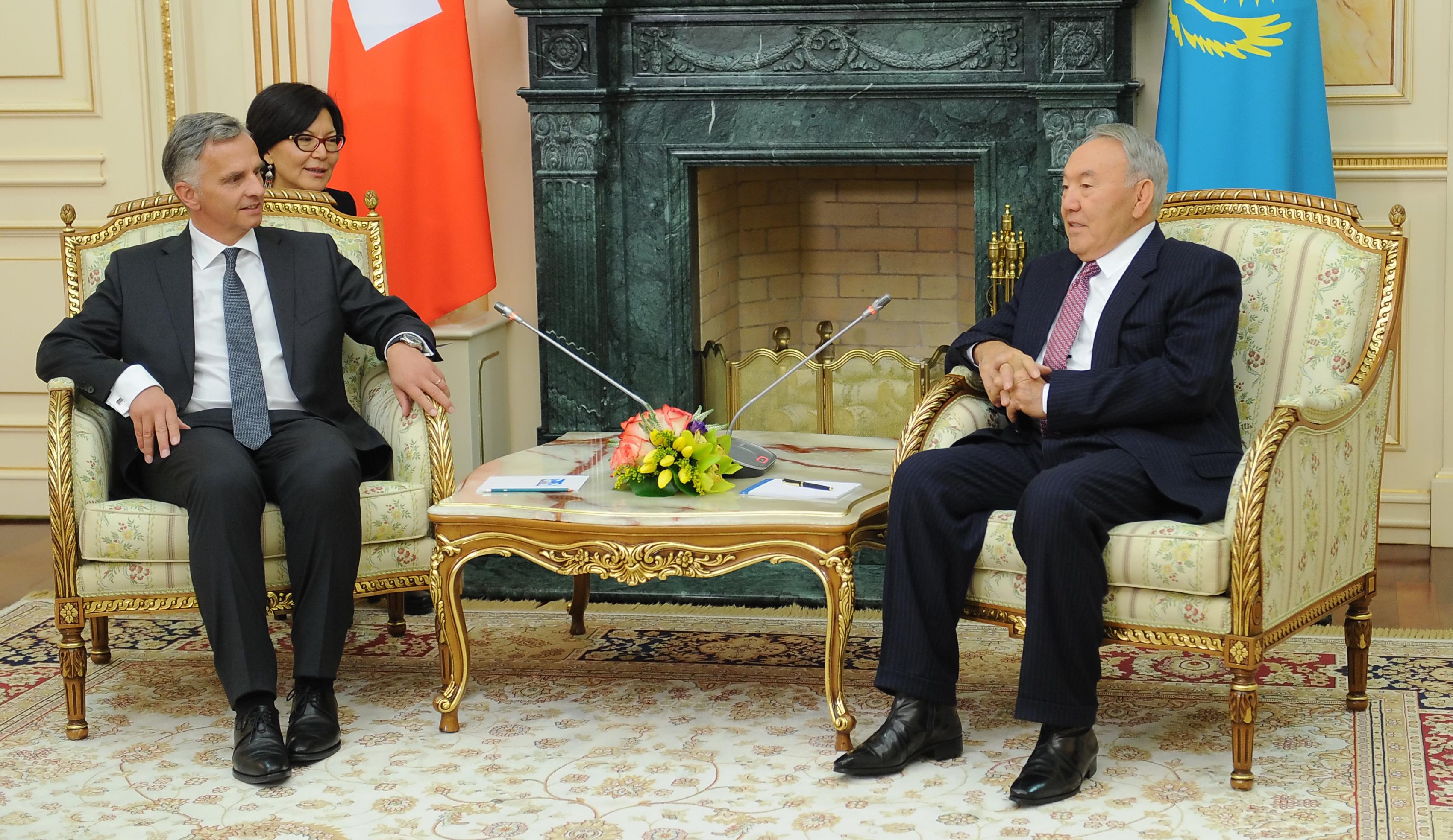 kazakh swiss presidents discuss relations and ukraine the astana
