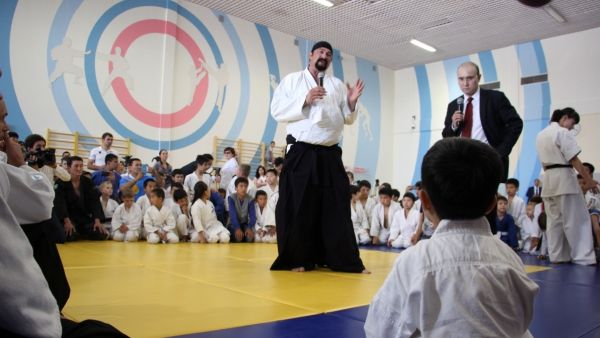 Hollywood Actor And Martial Arts Master Steven Seagal Comes To Astana