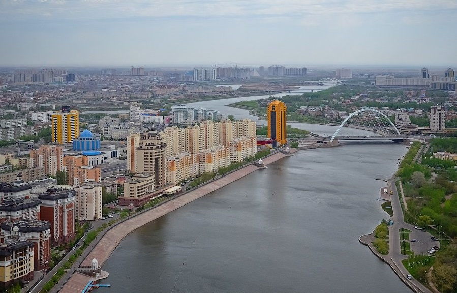 Astana's Yessil River.