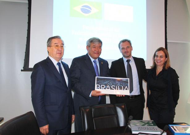 Expo Commissioner Rapil Zhoshybayev in Brazil.