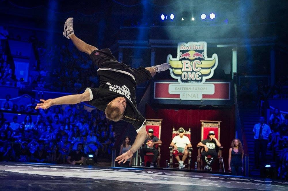 Nikolai Chernikov, also known as Killa Kolya, performs at the Eastern Europe final of the Red Bull BC One breakdancing competition in Tbilisi, Georgia.