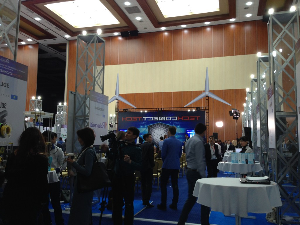 Domestic and international innovative developments were presented at a research exhibition organised as a part of TechConnect Astana, held Nov. 12 at capital's Palace of Independence.