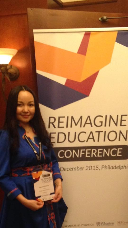 Aigerim Shilibekova at Reimagine Education Awards in Philadelphia