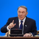 President Nursultan Nazarbayev addresses the nation Nov. 30.