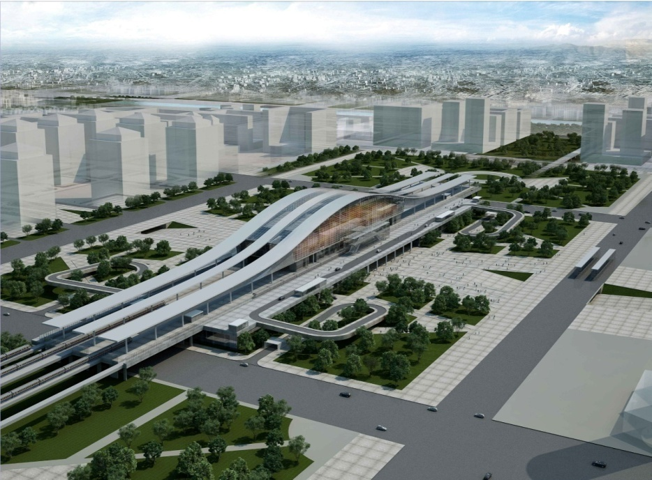Expo Stand Designs : New 'green railway station under construction in astana