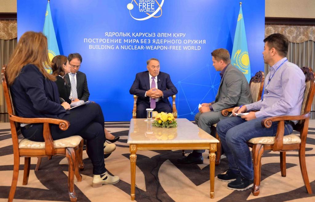 Kazakh President Explains Commitment to Nuclear Disarmament