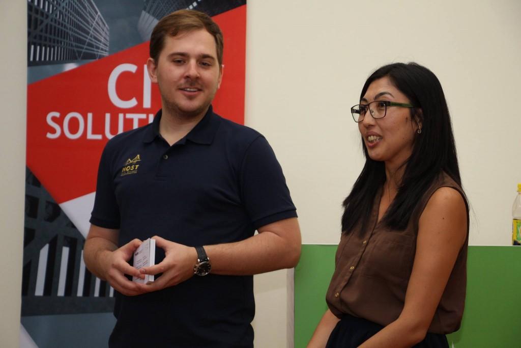 Pavel Koktyshev and Ainel Kainazarova,  Soros Foundation-Kazakhstan Public communications coordinator
