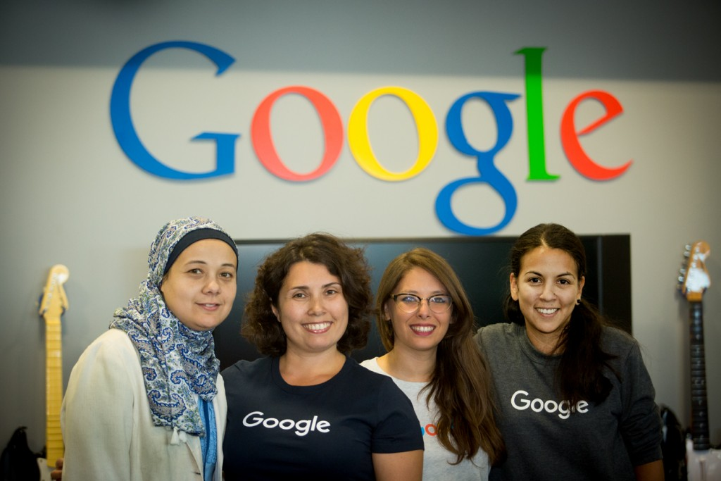 Yelena Filipchik at Google HQ with other TechWomen participants.
