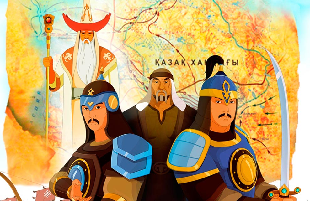 Kazakhstan 2017 MNH Kazakh Animation 6v M/S WITHOUT Header ... |Kazakhstan Animation