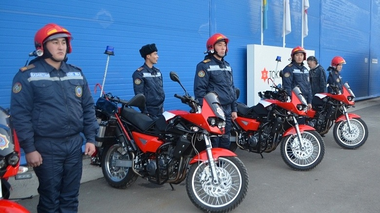 Fire fighting motorcycles to be used in almaty Motor credit