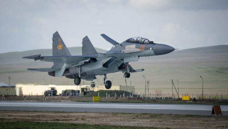Sukhoi Su-30SM Jet Fighter.