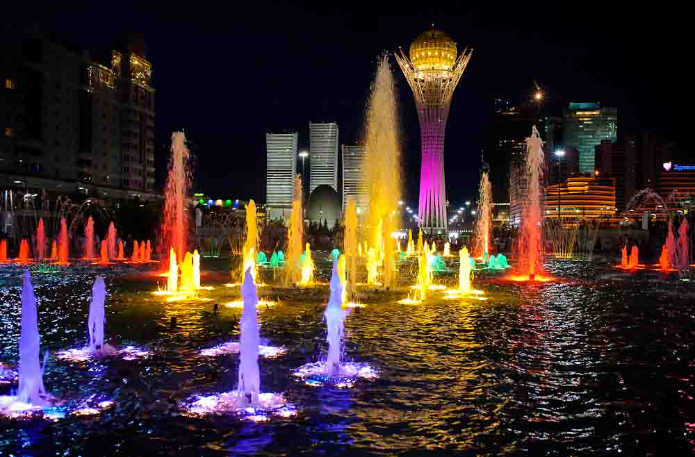 2 - Astana night life during EXPO summer trip