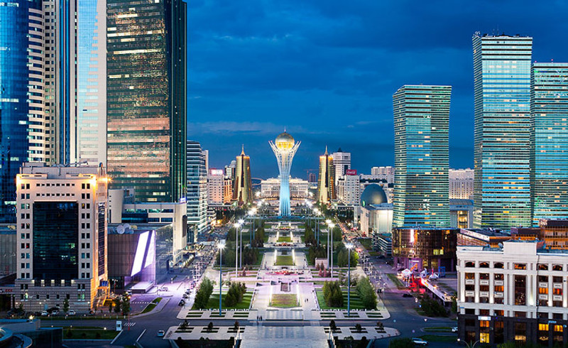 Astana night life during EXPO summer trip
