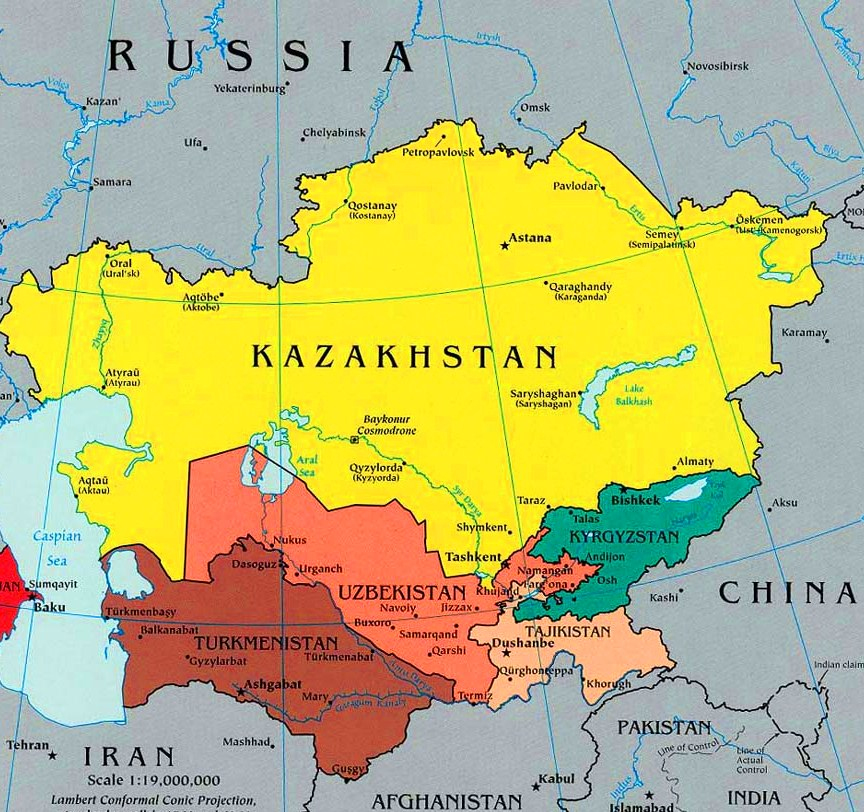 Central Asian Integration More Real Than Ever The Astana Times - Central asia political map