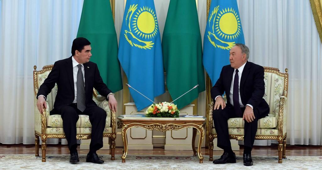 Gurbanguly Berdimuhamedov and Nursultan Nazarbayev Photo credit Akorda.kz