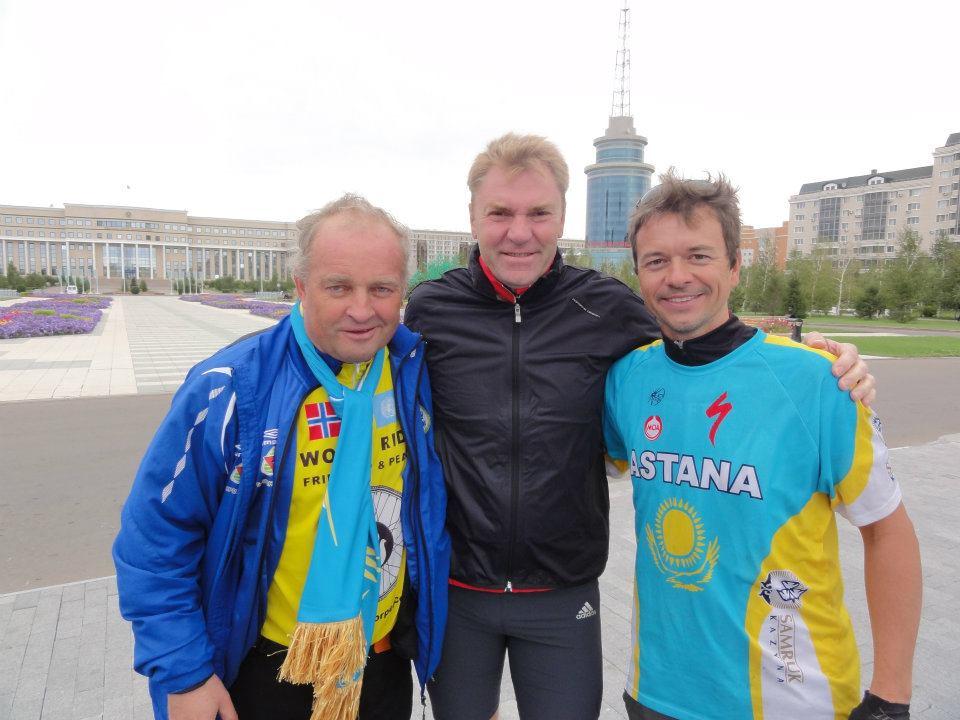 Naerland, Vladimir Smirnov and Frank Tomlinson in Astana 2011