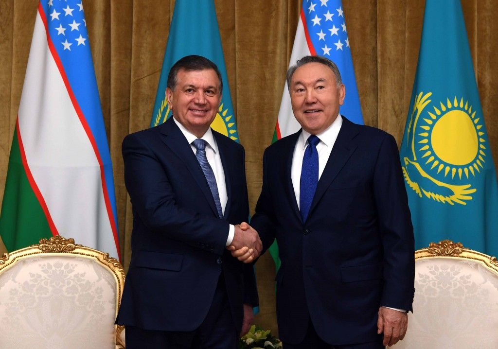 Shavkat Mirziyoyev and Nursultan Nazarbayev Photo credit Akorda.kz