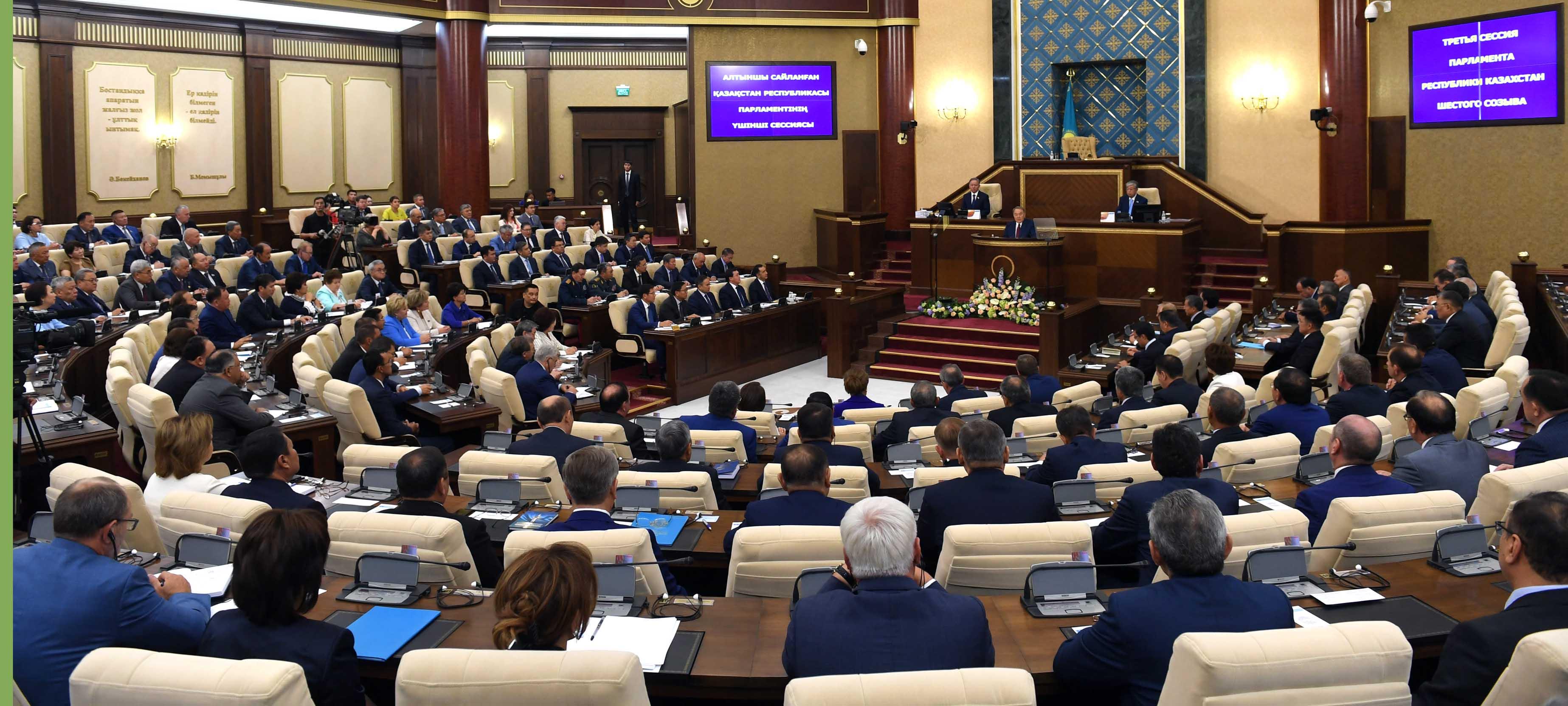 President Nazarbayev Opens Kazakh Parliament S Third
