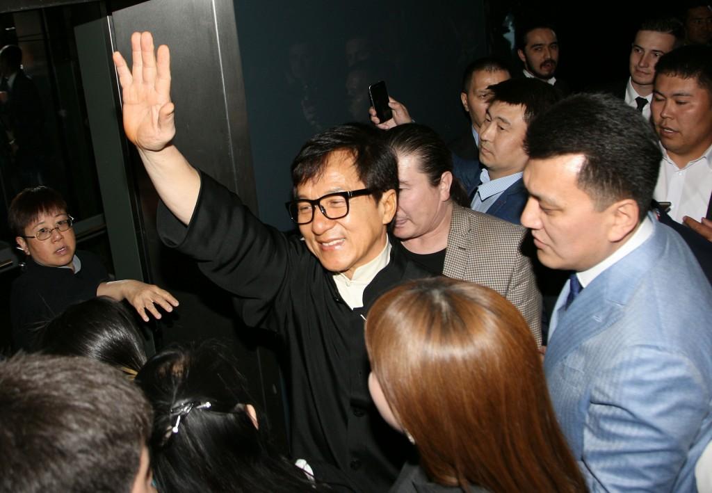 Jackie Chan in Astana. Photo credit: liter.kz