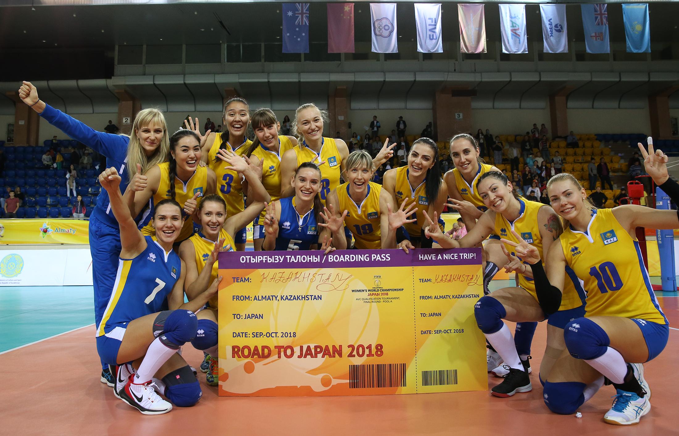 Kazakh National Women S Volleyball Team Reaches World
