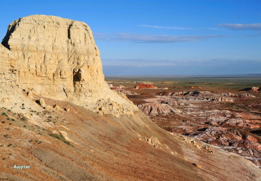 The Burning Adyrs natural monument in the south of the Zaisan area. Photo credit Toureast.kz