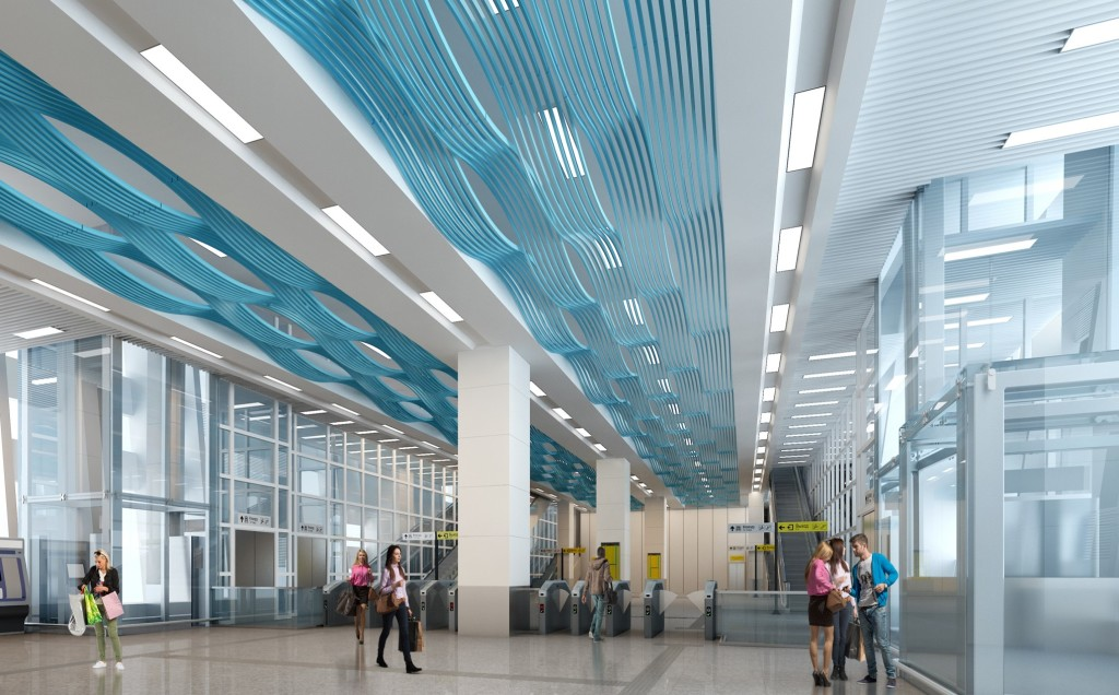 Interior design of LRT station