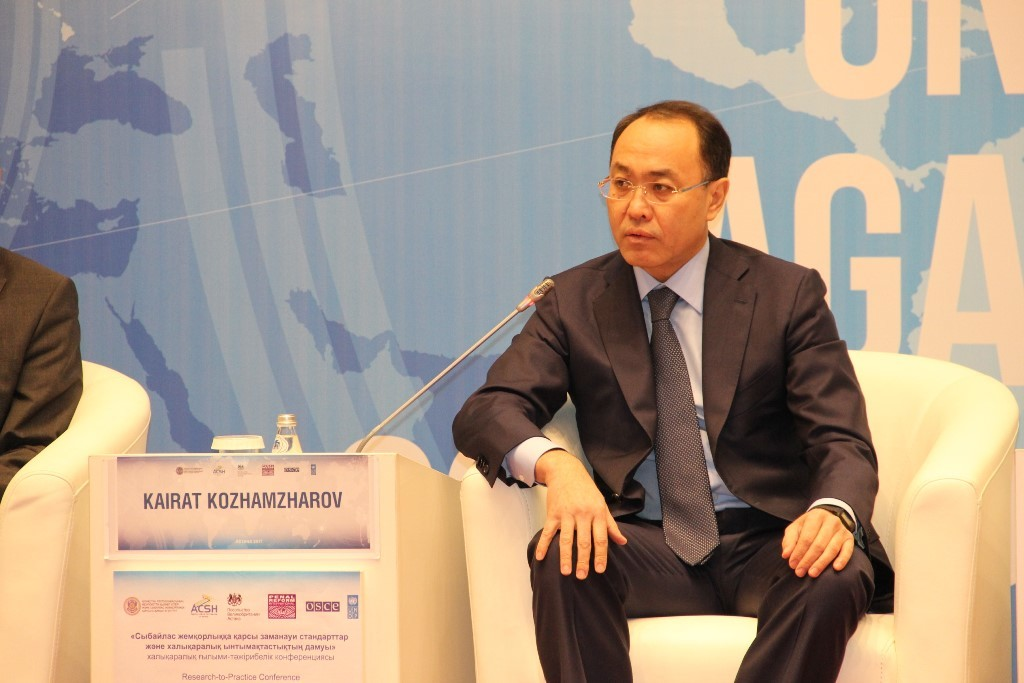 Chairman of the Agency for Civil Service and Anti-Corruption Kairat Kozhamzharov
