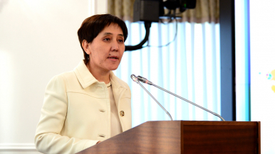 Kazakh Minister of Labour and Social Protection Tamara Duissenova. Photo credit: primeminister.kz