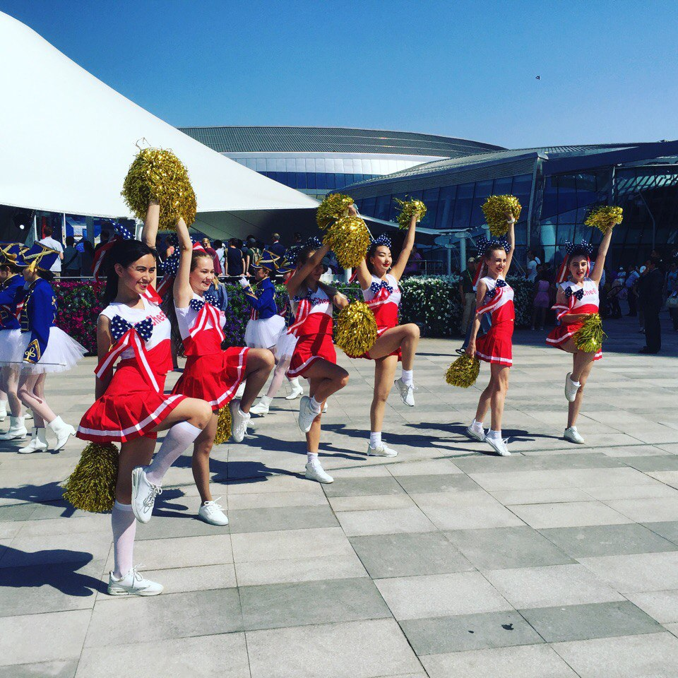 Cheerleading and Cheer Sport  team at EXPO 2017, Astana.