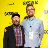 Timur Bekmambetov (L) and Jason Blum.