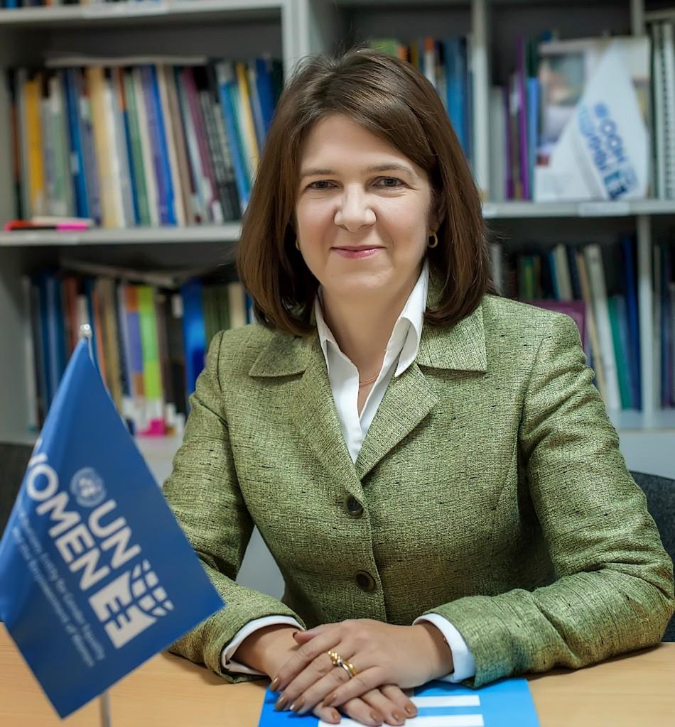 UN Women Kazakhstan Representative Elaine Conkievich