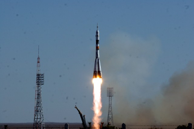 launch of Soyuz rocket