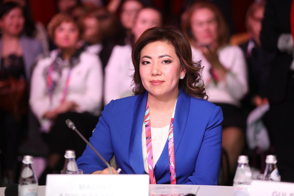 Madina Abylkassymova. Photo credit: Saltanat Rakhimbekova's Facebook Page.