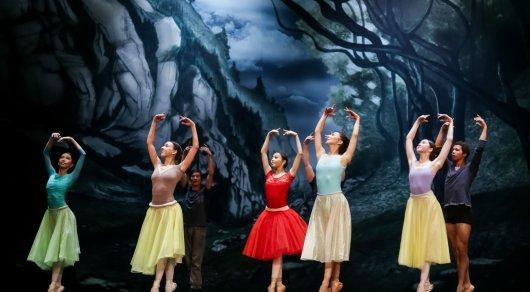 Giselle rehearsal.  Photo credits: tengrinews.kz.