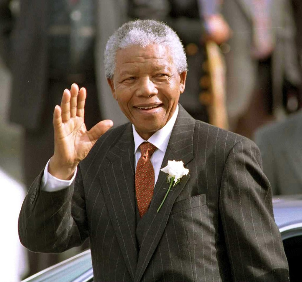 South African President Nelson Mandela makes his way to Parliament in Cape Town, South Africa, in this May 9, 1994, file photo. Mandela died on Thursday, Dec. 5, 2013. (Anacleto Rapping/Los Angeles Times/MCT)