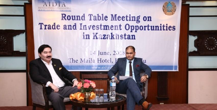 Bulat Sarsenbayev and Sunil KC. Photo credit:  karobardaily.com.
