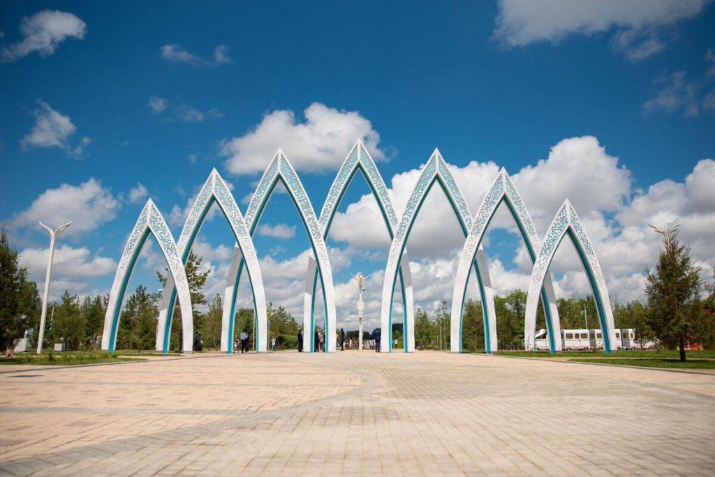 Jetisu Park entrance.