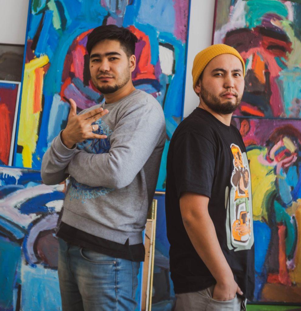 Yerzhan Tanayev and Ali Zakir L R 991x1024 - Алматы графитчиков привлечь внимание к казахской истории, культуры