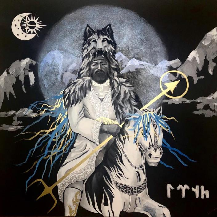 Bir Tengri - Казахский художник проявляет тенгрианство-вдохновили картины