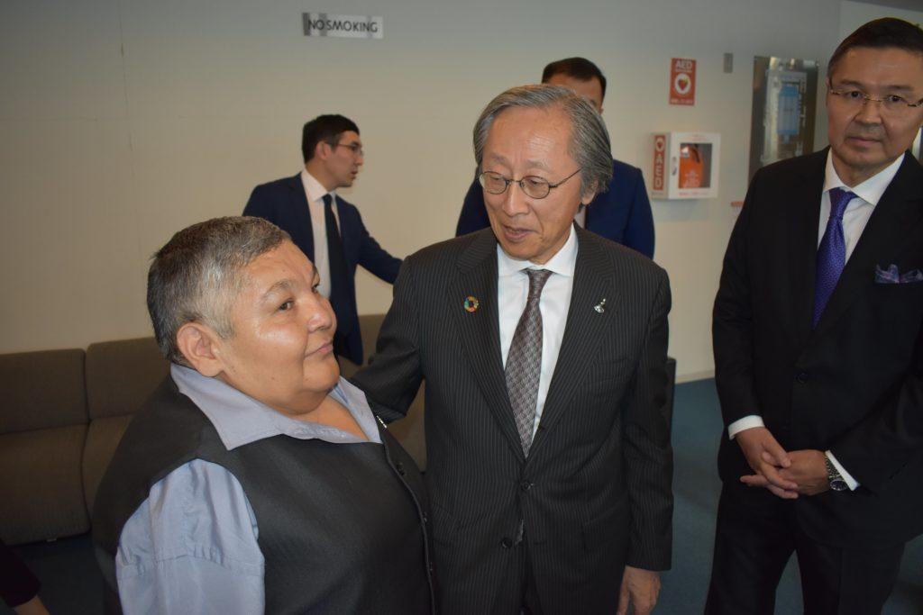 DSC 0081 min 1024x683 - Казахстанская анти-ядерным активистом акции произведения, нераспространения сообщение в Токио