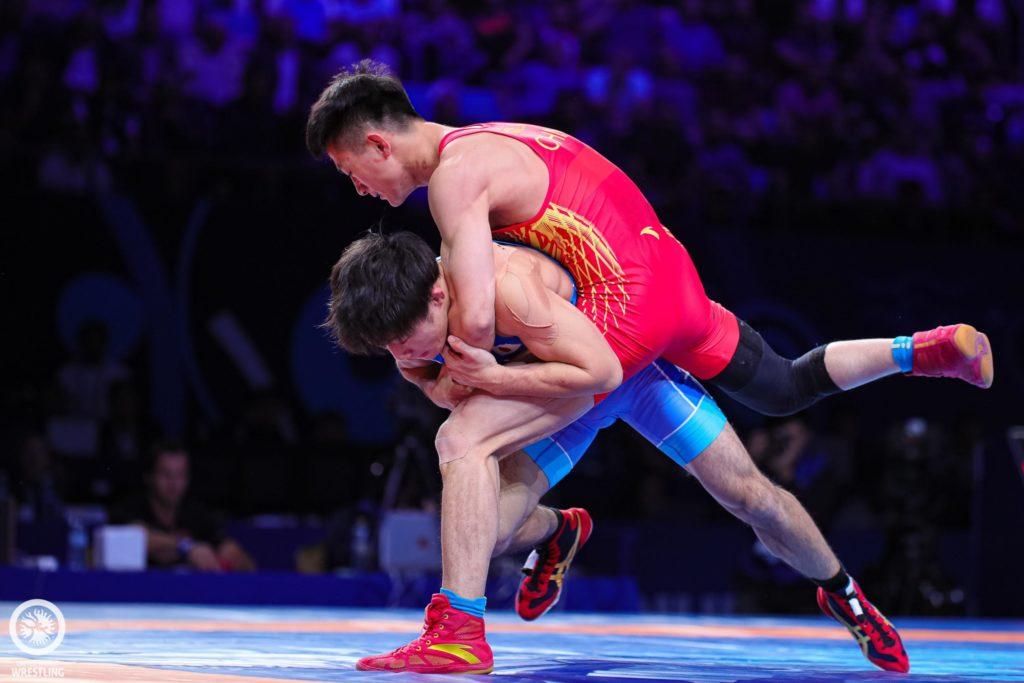 Greco Roman Wrestling 55kg Bronz medal match Shota OGAWA JPN df. Liguo CAO CHN 0314 0 1024x683 - Мировой реслинг заканчивает чемпионат в Нурсултан, Казахстан обеспечивает восемь олимпийских лицензий