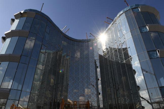 10 22 14 1 - Туркестан завершает новый медиа-центр, здании акимата