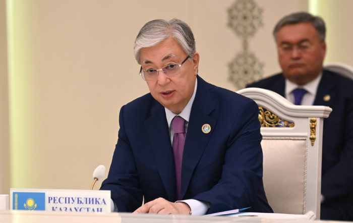 Tokayev noted that Kazakhstan is open for mutually beneficial cooperation in the development of transport communications within the region. Photo credit: Akorda Press.